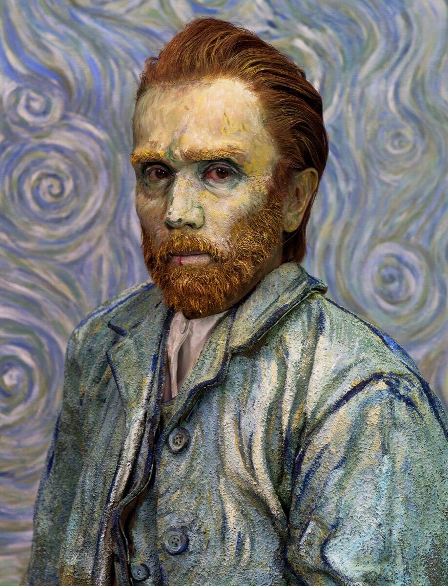 Yasumasa Morimura, Self-Portraits through Art History (Van Gogh / Blue), 2016. © Yasumasa Morimura. Courtesy of the artist and Luhring Augustine, New York.