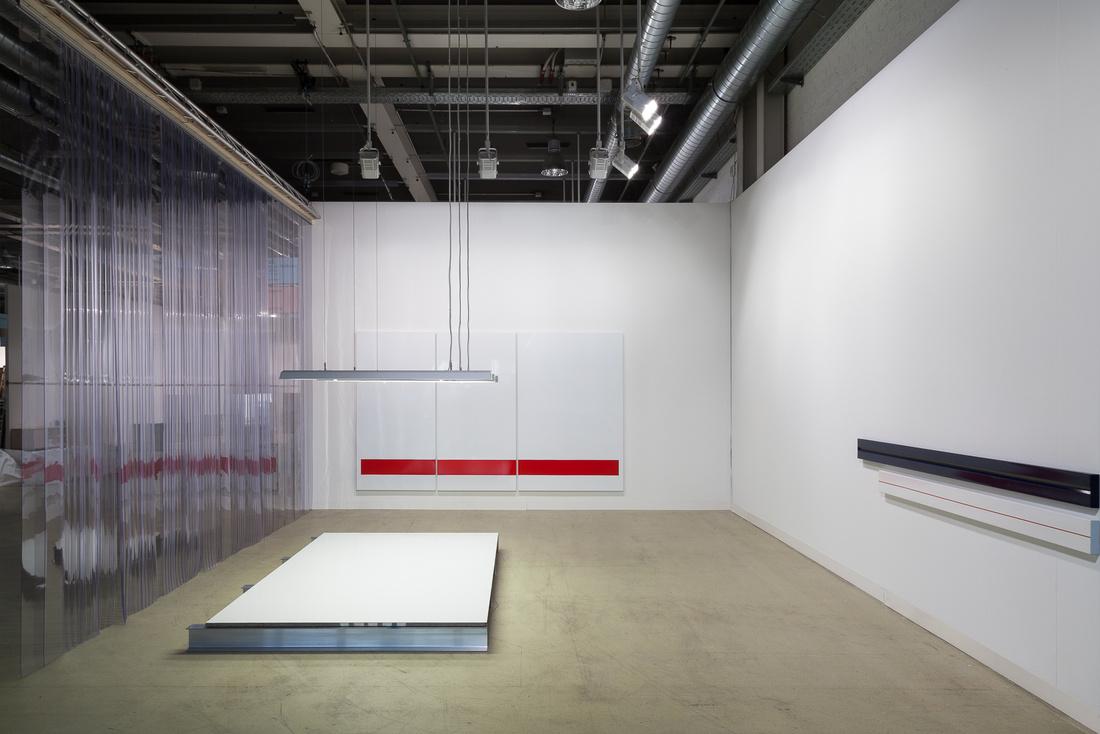 Rey Akdogen at Hannah Hoffman Gallery, Statements Section, Art Basel 2015. Photo by Dawn Blackman, courtesy of Art Basel.