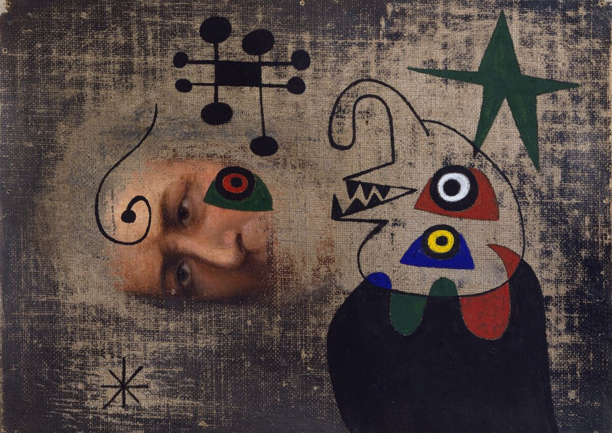 Joan  Miró, Personnage dans la nuit,  1944. ©  2018  Successió  Miró  /  Artists  Rights  Society  (ARS),  New  York  /  ADAGP,  Paris. Courtesy of Di Donna, New York.