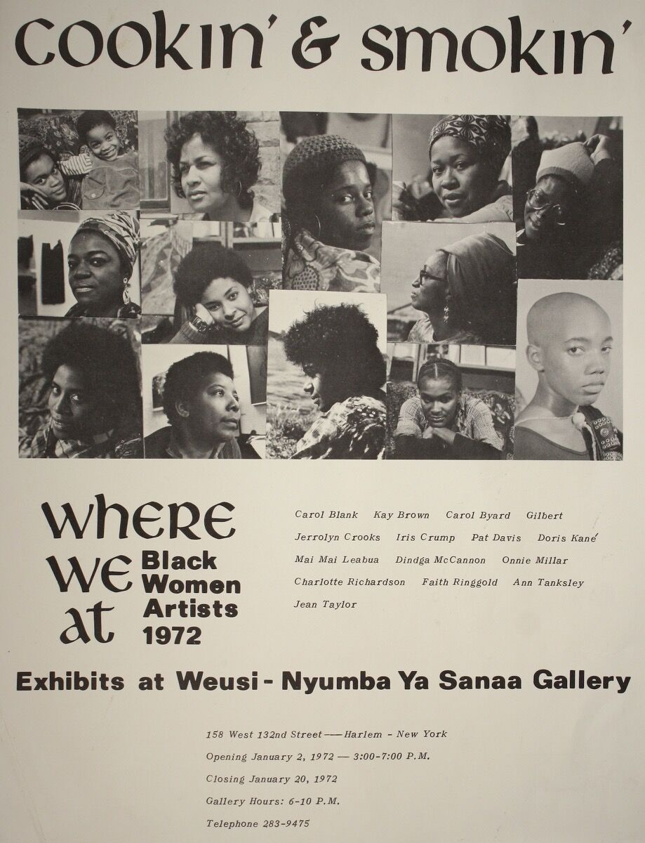 Where we at, Cookin & Smokin Poster, 1972. Courtesy of the Brooklyn Museum.