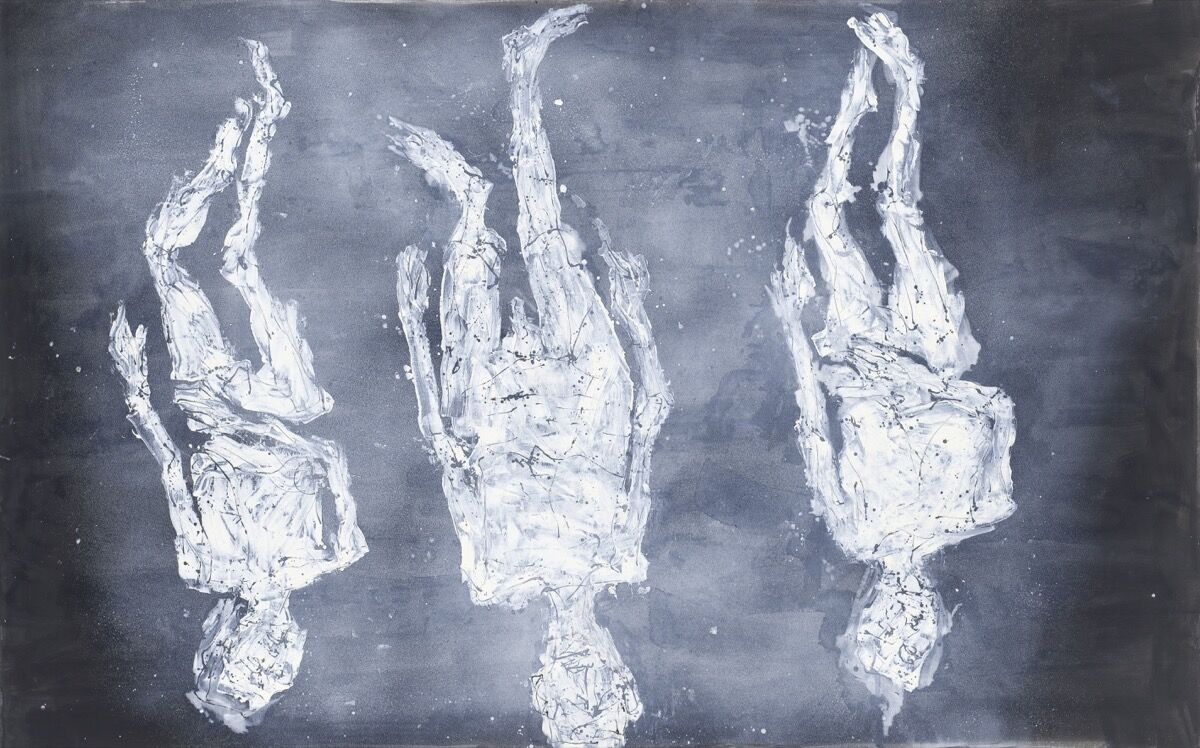 Georg Baselitz, Die Barrikade, 2018. © Georg Baselitz, 2018. Photo by Jochen Littkemann. Courtesy of Galerie Thaddaeus Ropac.