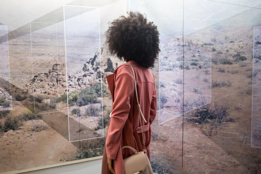 EXPO CHICAGO 2017, Klowden Mann booth featuring work by Rodrigo Valenzuel.