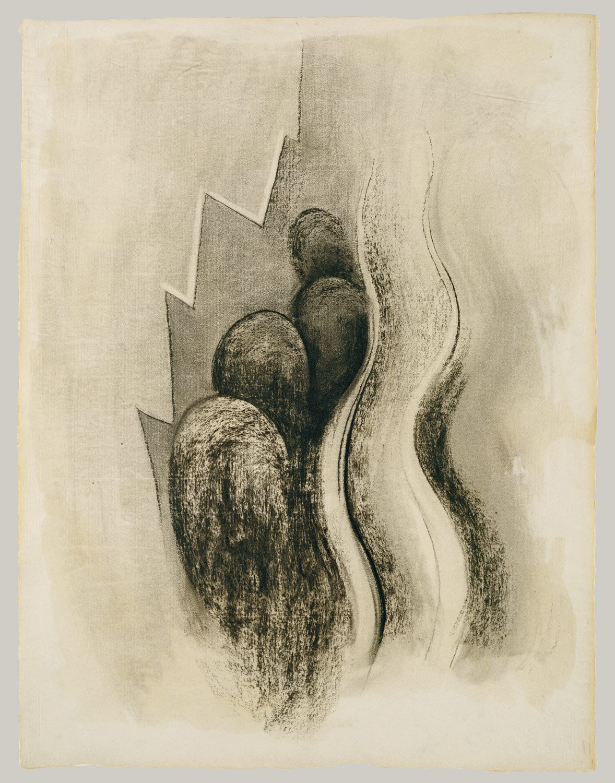 Georgia O'Keeffe, Drawing XIII, 1915. Image via Wikimedia Commons.