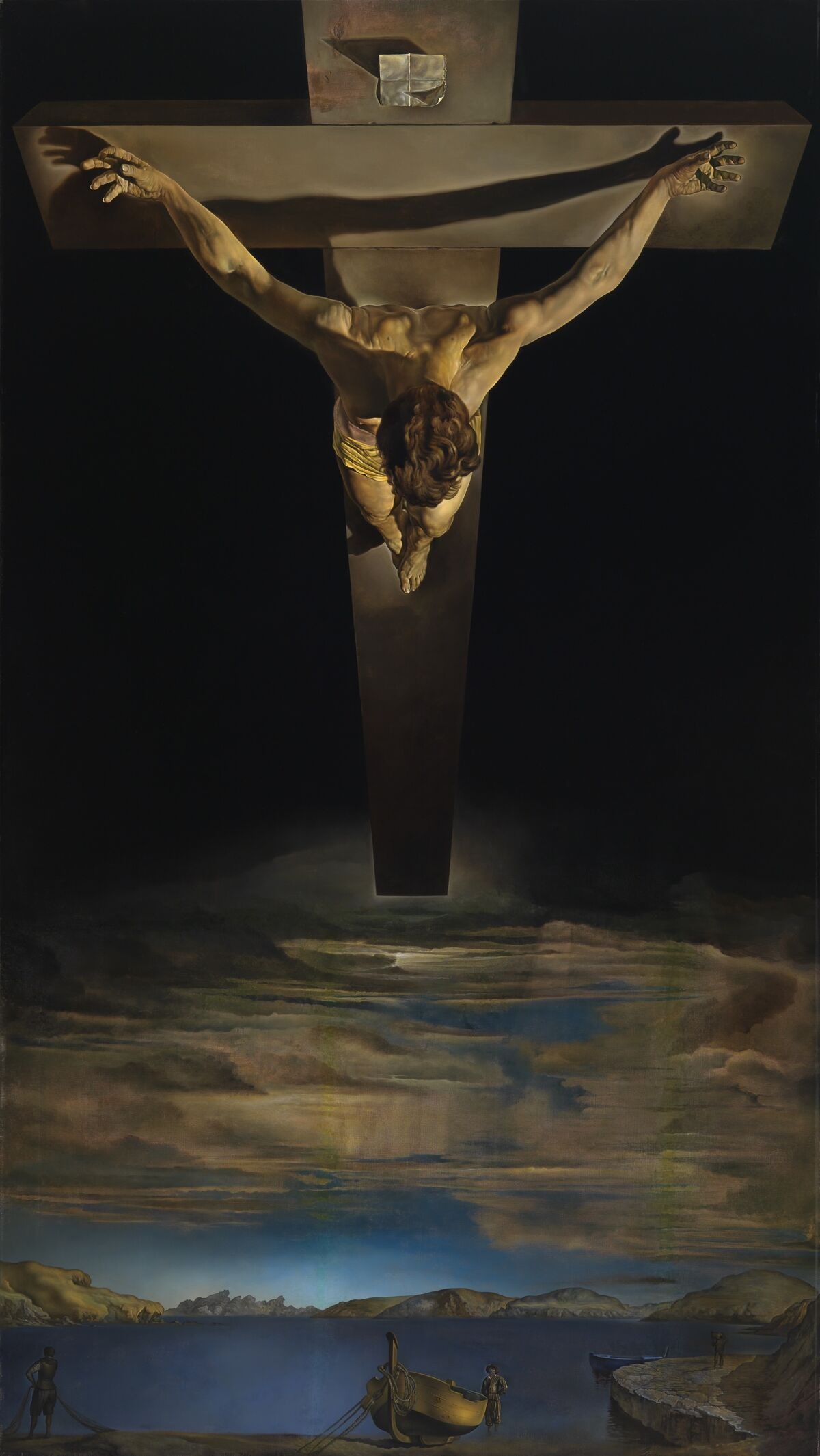 Salvador Dalí, Christ of St. John of the Cross, c. 1951. Kelvingrove Art Gallery and Museum. © CSG CIC Glasgow Museums Collection.
