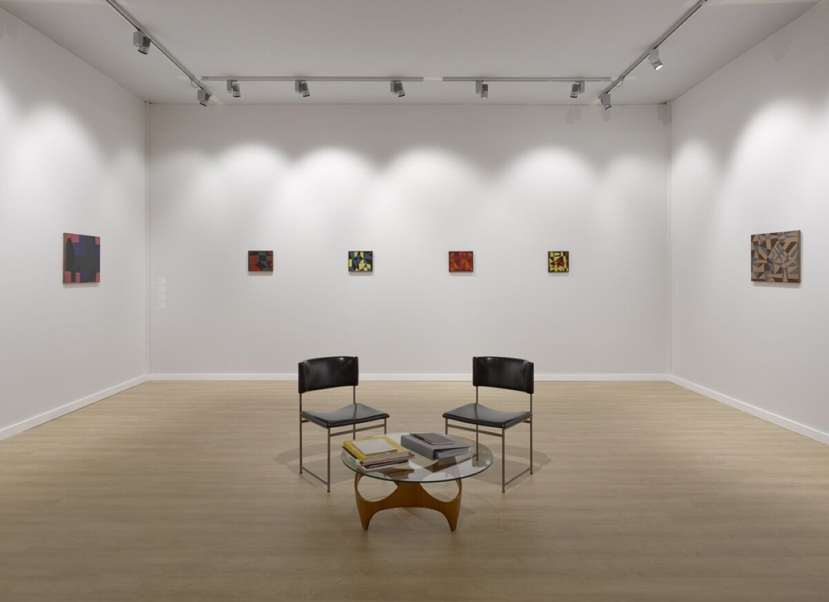 Installation view of Lisson Gallery's booth at TEFAF New York, 2017. Image courtesy of the gallery.