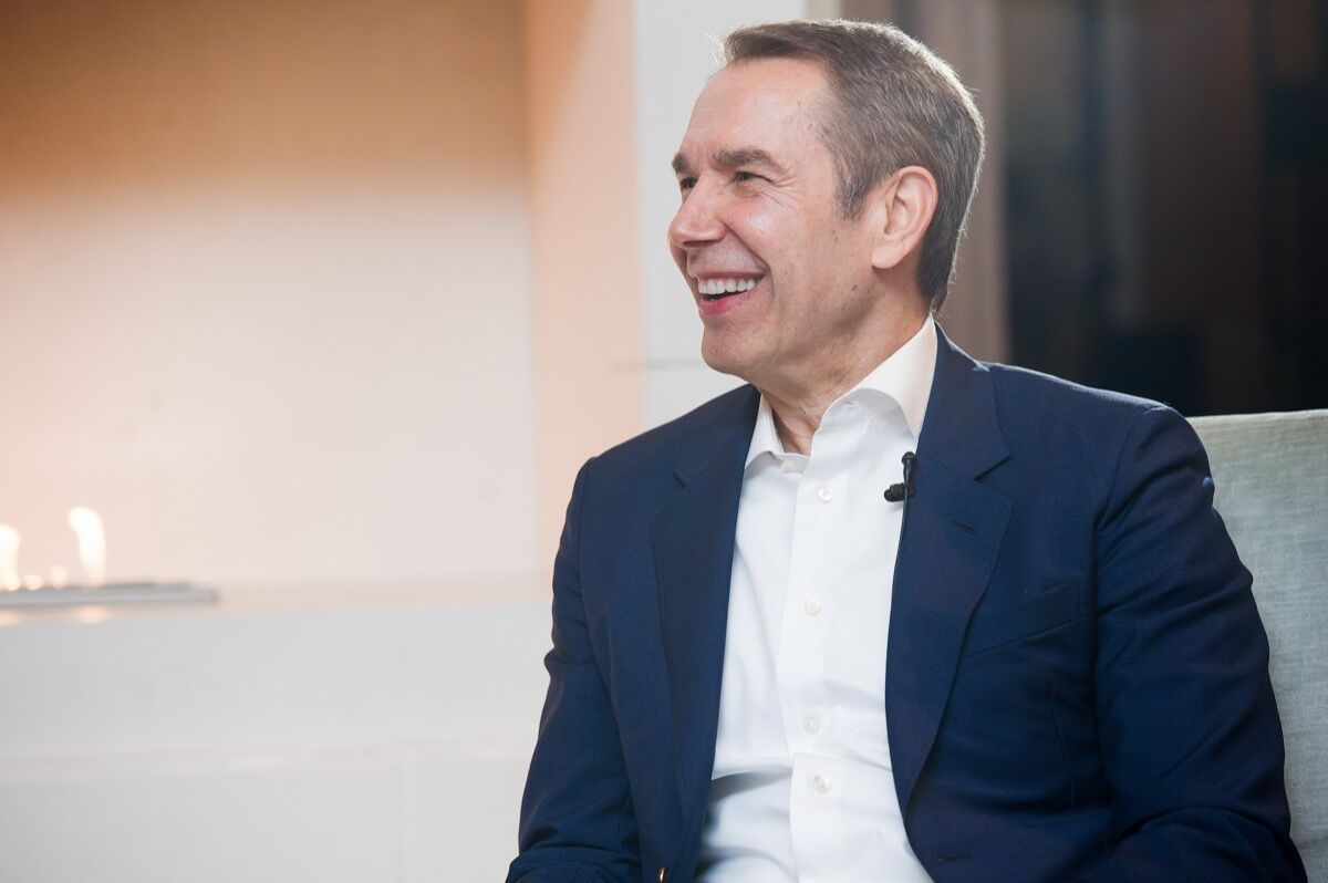 Photo of Jeff Koons at The Upper House in Hong Kong by Cheng Chun Kit for Artsy.
