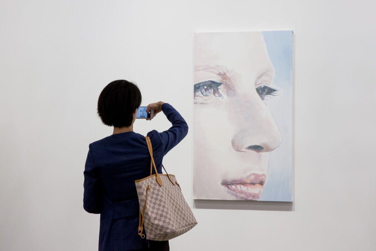 Installation view of David Zwirner's booth at Art Basel in Hong Kong, 2017. Courtesy of Art Basel in Hong Kong.