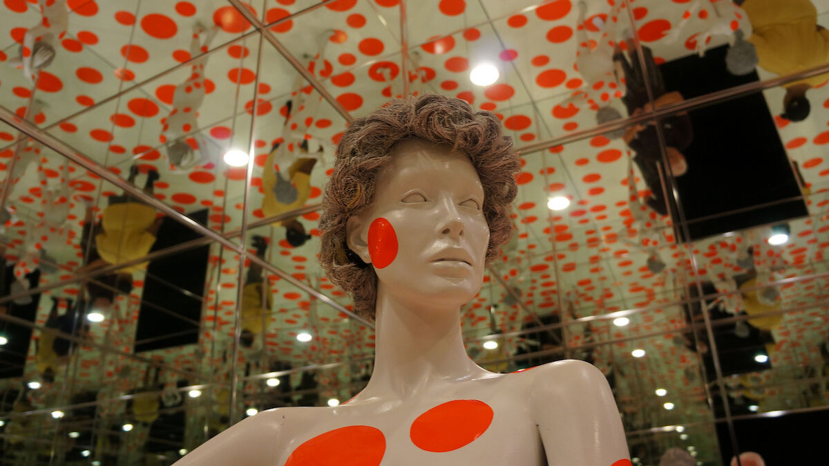 Yayoi Kusama, Repetitive Vision, 1996 (detail), a permanent installation at the Mattress Factory in Pittsburgh. Photo by Jon Cassie, via Flickr.