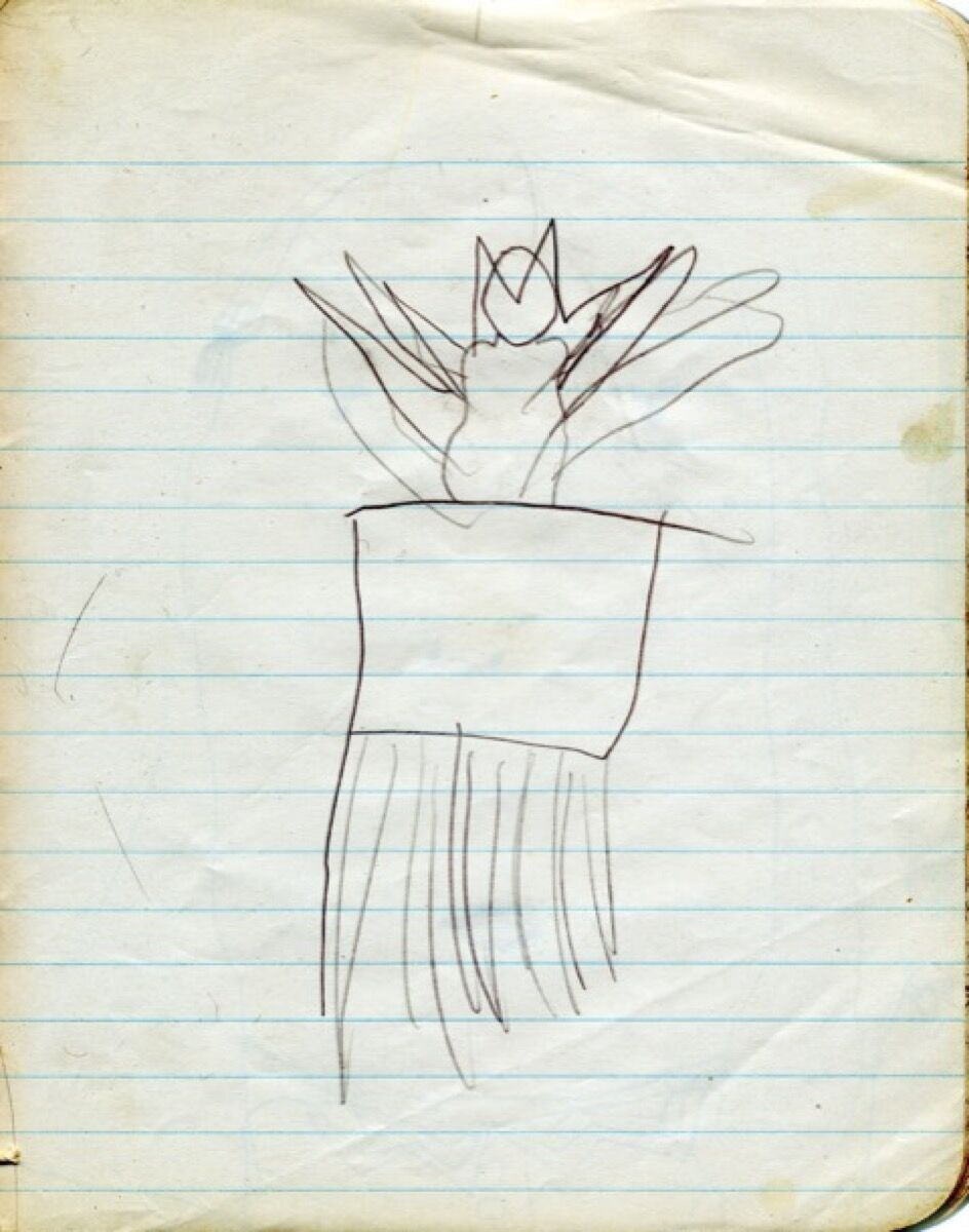 Carolee Schneeman, Exuberant Cat, drawn when she was four. Courtesy of the artist.
