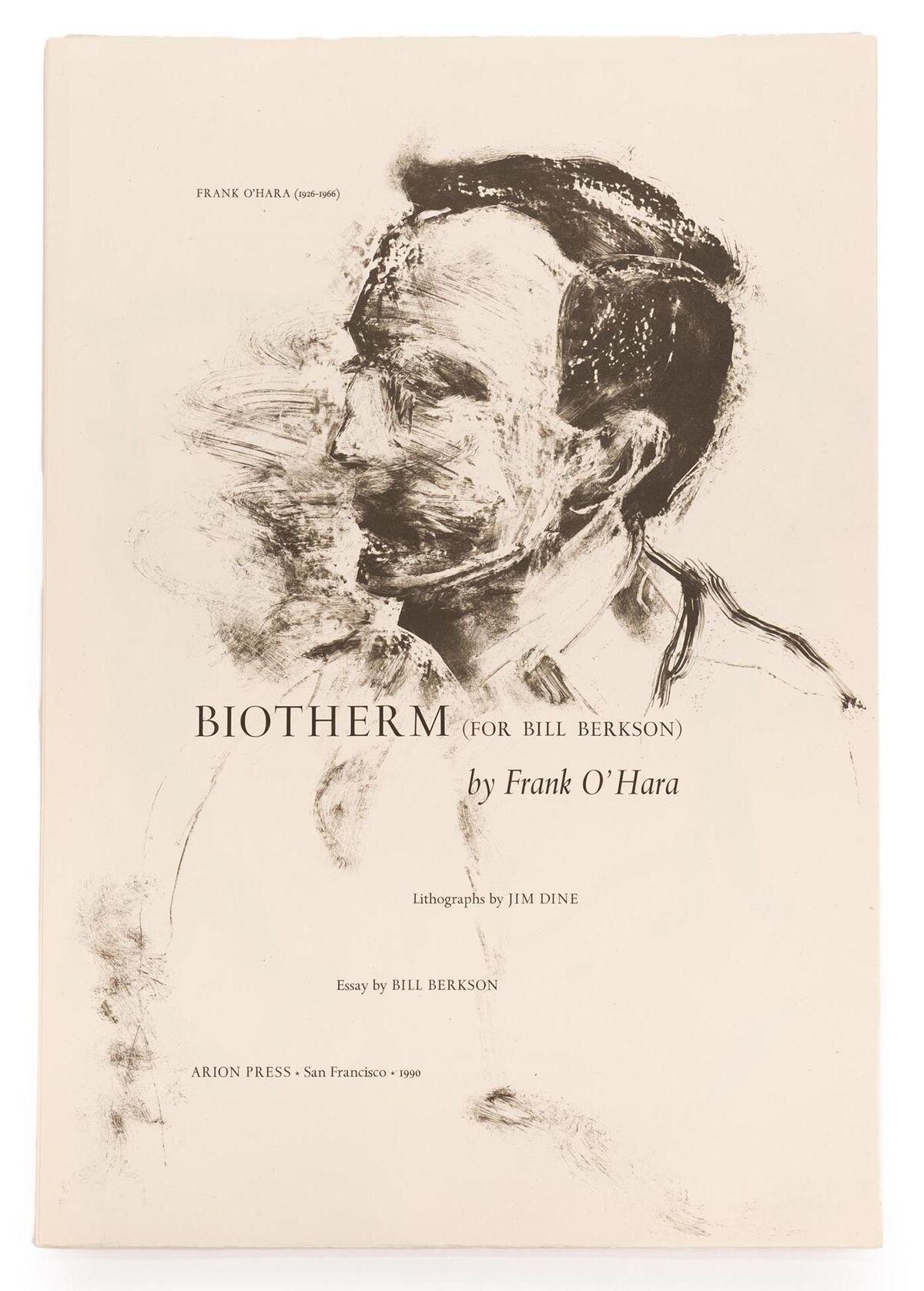 Jim Dine, Biotherm by Frank O'Hara, 1990.