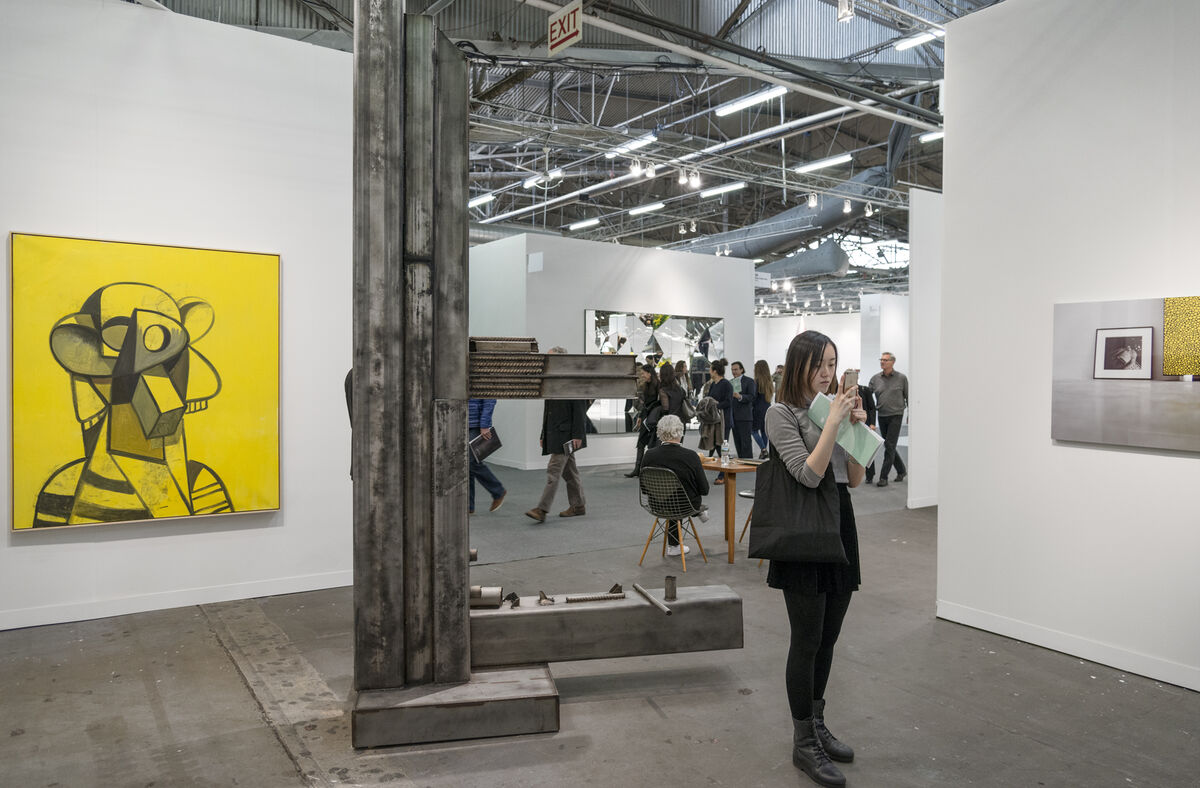 Installation view of Sprüth Magers's booth at The Armory Show, 2016. Photo by Adam Reich for Artsy.