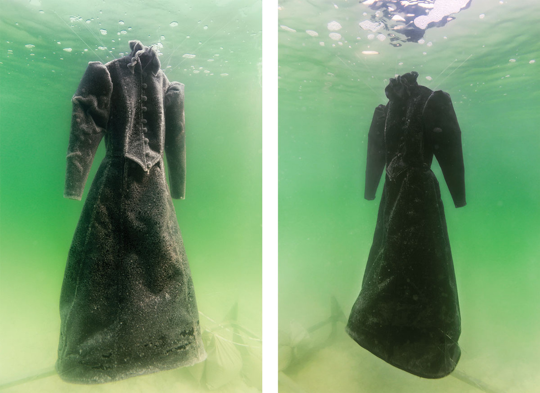 Sigalit Landau,Salt Crystal Bride Gown III, 2014. Images courtesy of the artist and Marlborough Contemporary, London. Photo by Studio Sigalit Landau.