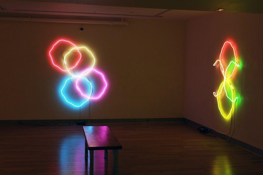 "Installation view of""Up in Neon,""Zane Bennett Contemporary Art, Santa Fe. CourtesyZane Bennett Contemporary Art."