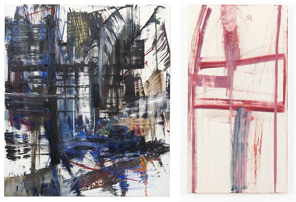 Louise Fishman,NĀMARŪPA (2014) and EASY LIVING (2014). Images courtesy of Cheim & Read, New York.