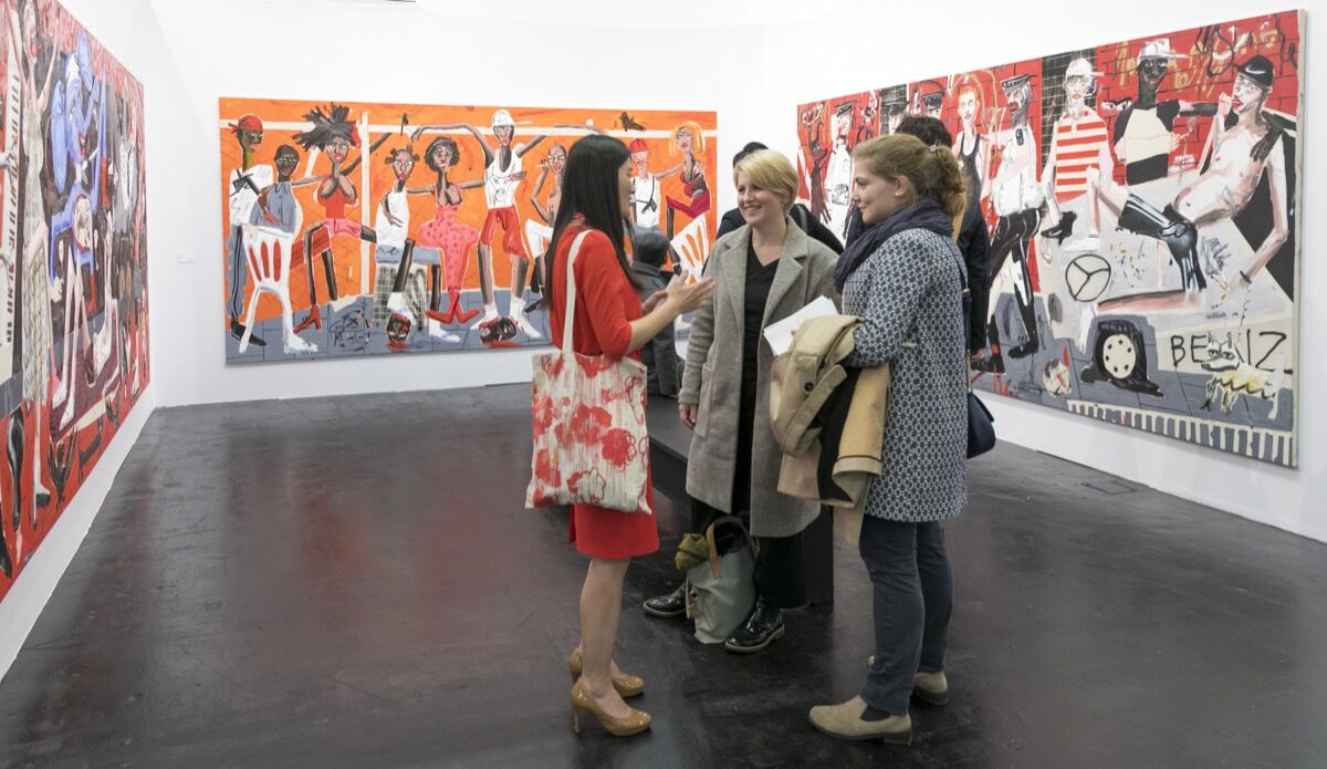 Installation view of Choi & Lager's booth at Art Cologne, 2017. Courtesy of Art Cologne.