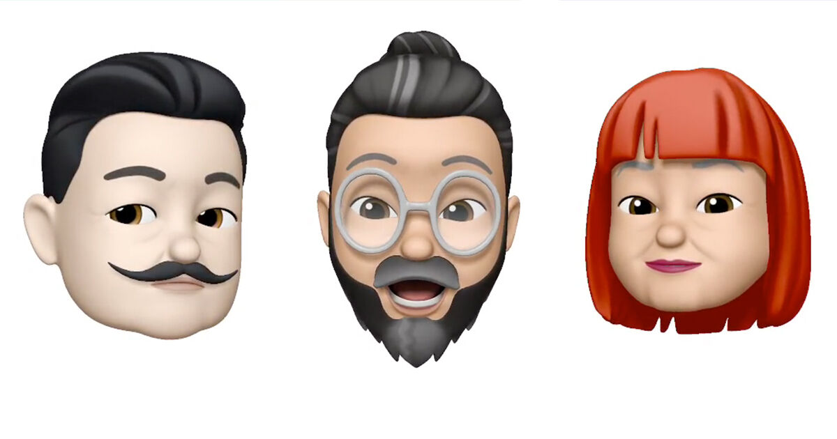 Apple Memoji avatars of Salvador Dalí, Takashi Murakami, and Yayoi Kusama.