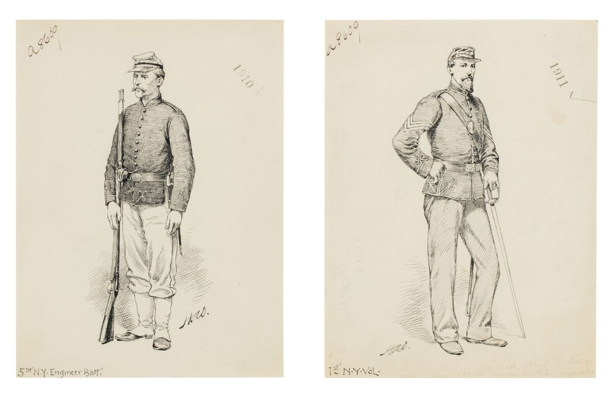 Henry Austin Ogden, 5th N.Y. Engineer Battalion and 1st N.Y. Volunteer: A Pair of Works. Courtesy of Christie's.
