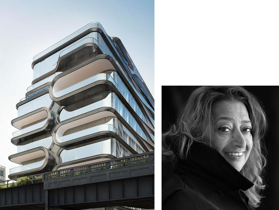 Zaha Hadid Architects, 520 West 28th. Portrait of Zaha Hadid by Brigitte Lacombe. Courtesy ofZaha Hadid Architects.