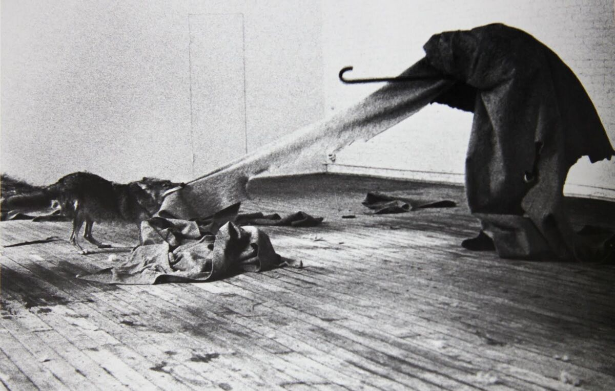 Joseph Beuys, I Like America and America Likes Me, 1974. © Joseph Beuys.