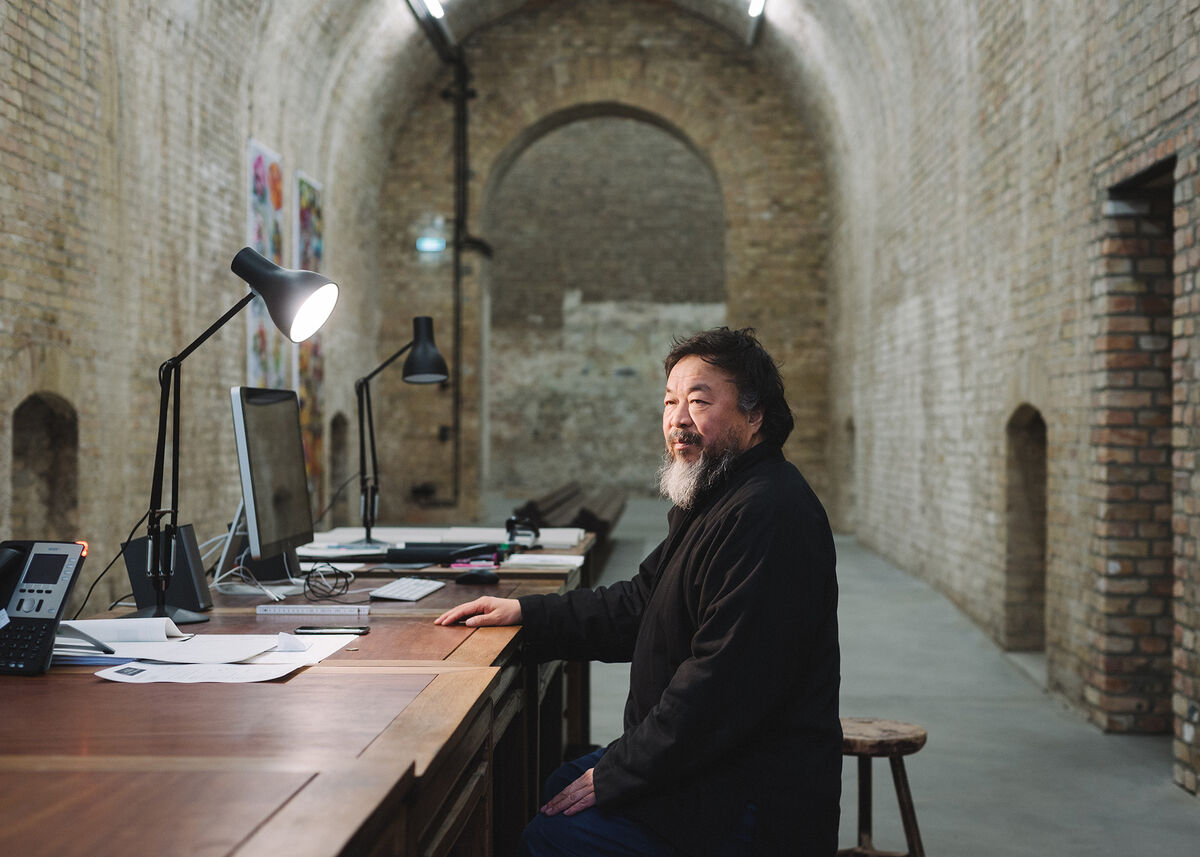 Portrait of Ai Weiwei in his Berlin studio by Wolfgang Stahr for Artsy.  © Artsy and Wolfgang Stahr.