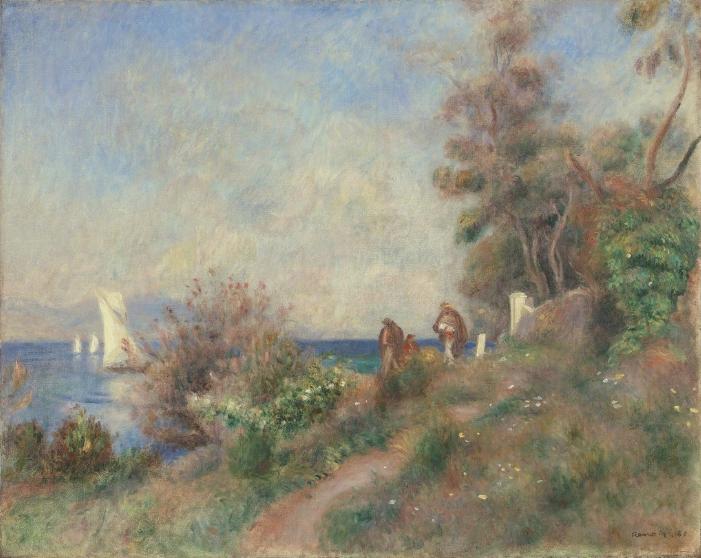 Pierre-Auguste Renoir, Coastline at Antibes, 1888; Courtesy of Hammer Galleries.