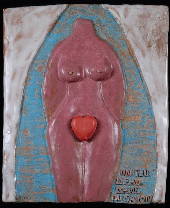 Beatrice Wood,Un peut d'eau dans du savon, ca. 1980. Courtesy of Francis M. Naumann Fine Art.