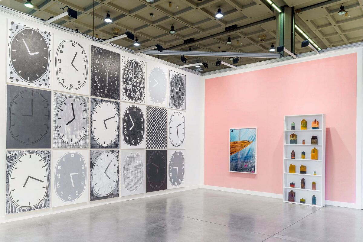 ROD BARTON's booth at miart 2015. Image courtesy of the gallery.