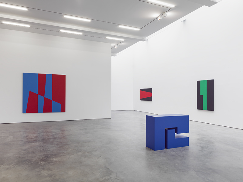 Installation view of Carmen Herrera at Lisson Gallery, New York, 2016. Photo courtesy of Lisson Gallery.