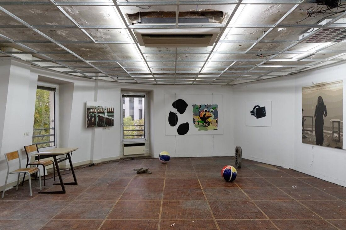 Installation view of Michael Thibault at Paris Internationale, 2015. Photo by Aurélien Mole, courtesy of Paris Internationale.