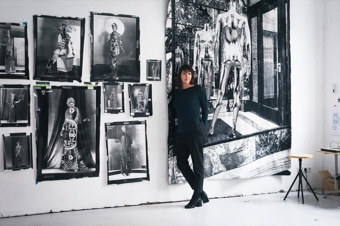 Portrait of Shannon Bool in her Berlin studio by Wolfgang Stahr for Artsy.