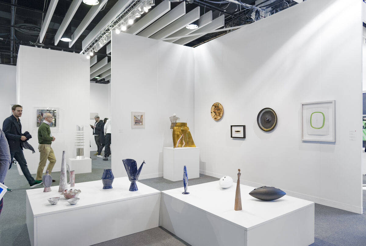 Installation view of Repetto's booth at The Armory Show, 2016. Photo by Adam Reich for Artsy.