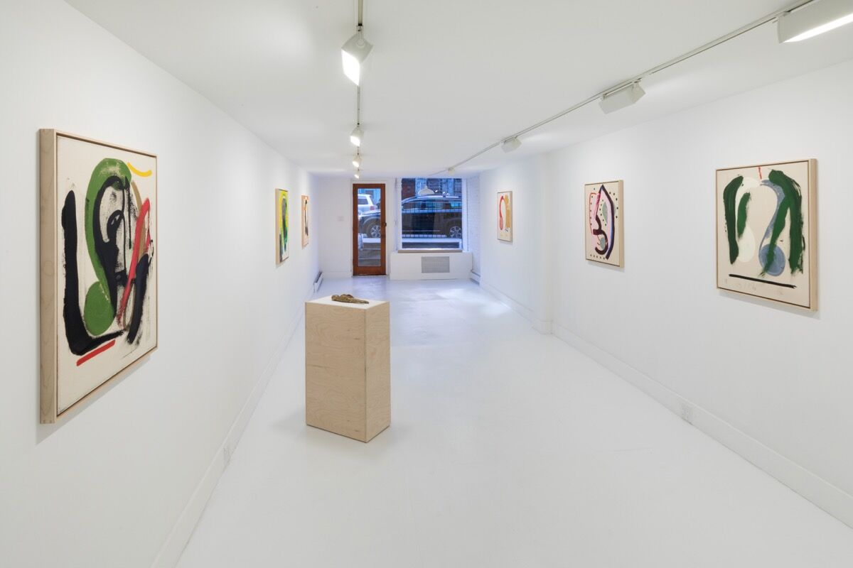 "Installation view of ""Mason Saltarrelli: Acoustic Tulips"" at Turn Gallery. Courtesy of Turn Gallery."