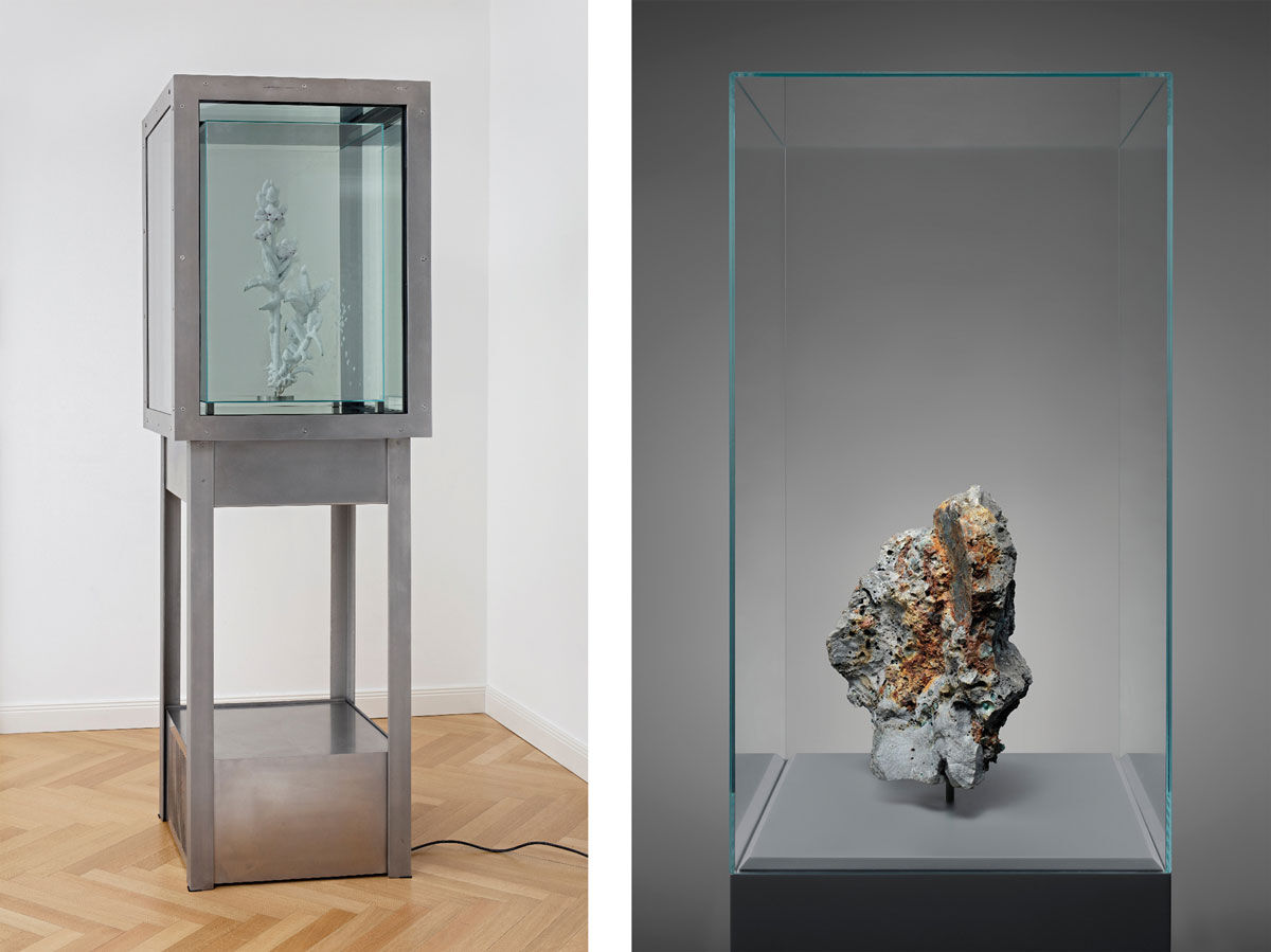 Left: Julian Charrière, Tropisme, 2016. Right: Julian Charrière, Metamorphism, 2016. © Julian Charrière /VG Bild-Kunst, Bonn, courtesy of DITTRICH & SCHLECHTRIEM, Berlin and Sean Kelly, New York.