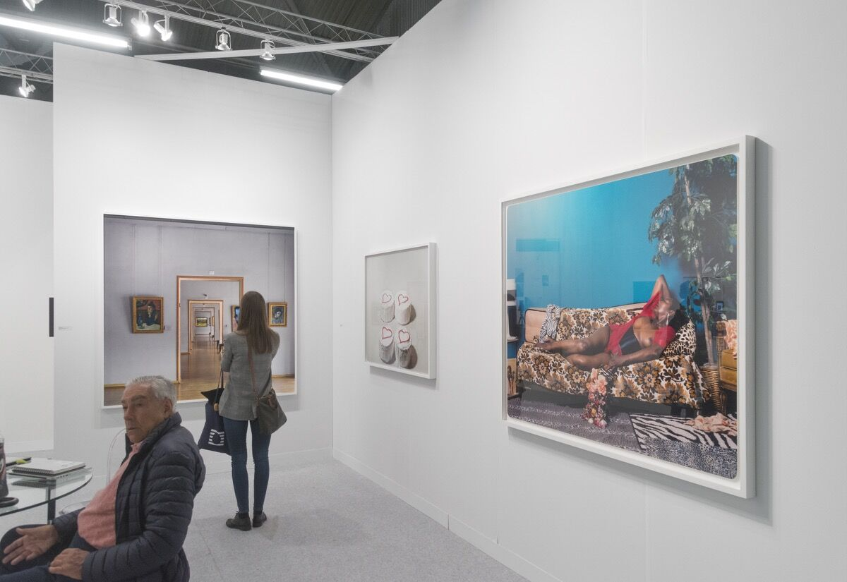 Installation view of Yancey Richardson's booth at The Armory Show, 2018. Photo by Adam Reich for Artsy.