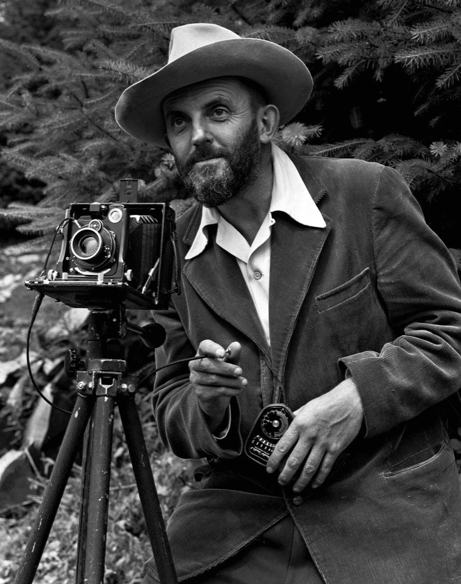 Portrait of Ansel Adams by J. Malcolm Greany. Image via Wikimedia Commons.