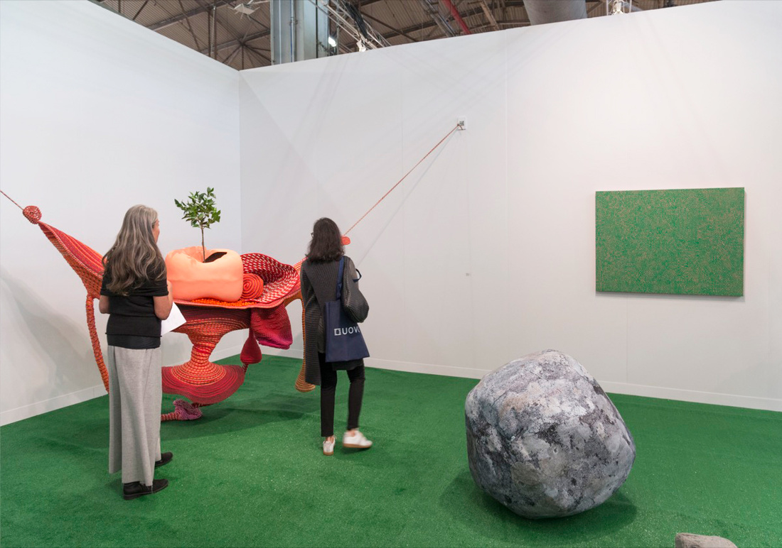 Installation view of Victoria Miro's booth at The Armory Show, 2017. Photo by Adam Reich for Artsy.