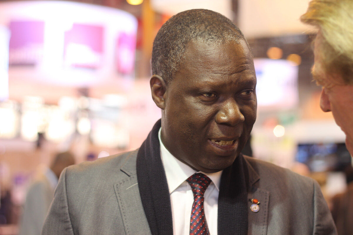 Maurice Bandaman, the minister of culture of the Ivory Coast. Photo by ActuaLitté, via Flickr.