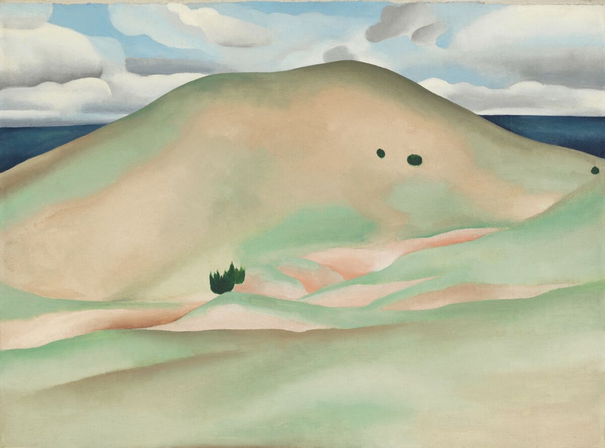 Georgia O'Keefe, New Mexico—Near Taos, 1929. From the Collection of Peggy and David Rockefeller. Courtesy of Christie's.