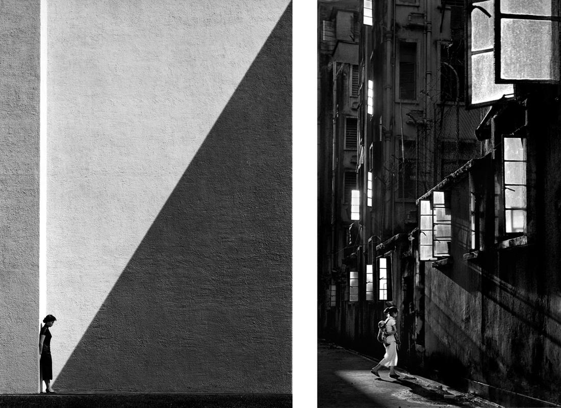 Left: Fan Ho, Approaching Shadow, 1954; Right: Fan Ho, White Windows, 1962. Images courtesy of Blue Lotus Gallery.