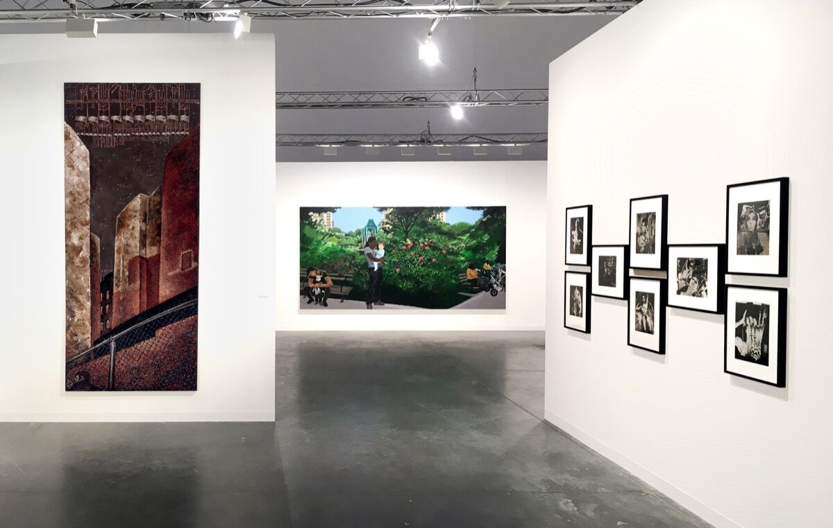 Installation view of P.P.O.W's booth at Art Basel in Miami Beach, 2017. Courtesy of P.P.O.W.