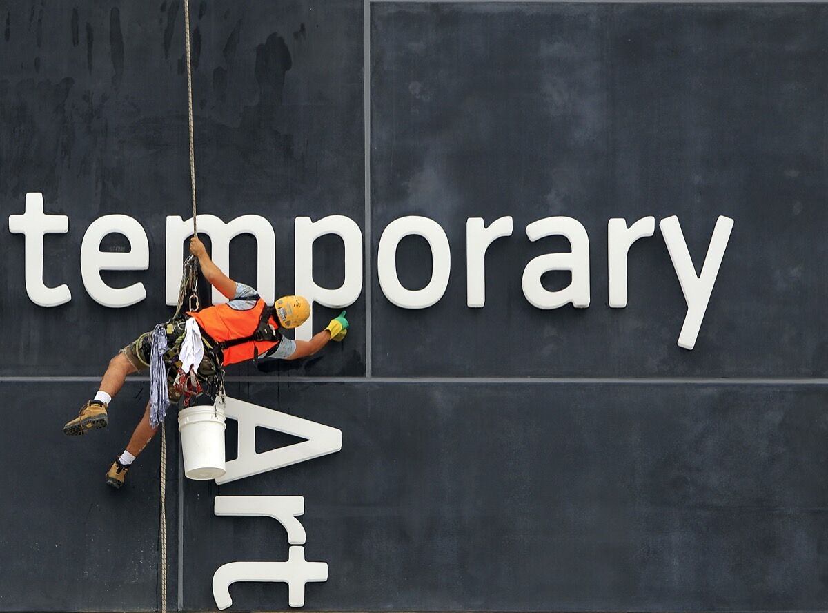 Lettering signage at the Museum of Contemporary Art, Sydney, 2012. Photo by Steve Christo/Corbis via Getty Images.