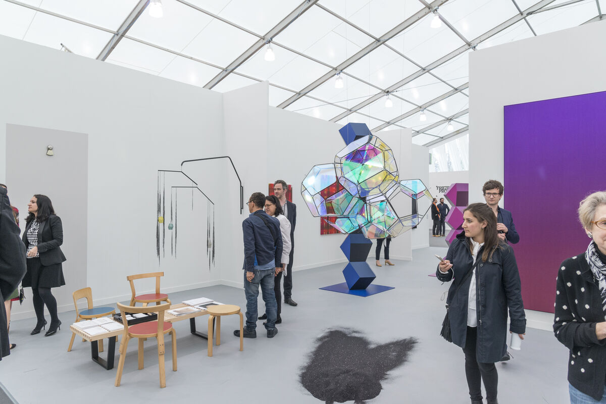 Installation view of Esther Schipper's booth at Frieze New York, 2016. Photo by Adam Reich for Artsy.