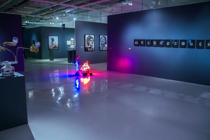 """Installation view of """"Horror en el Trópico"""" (2015). Museo Universitario del Chopo"""