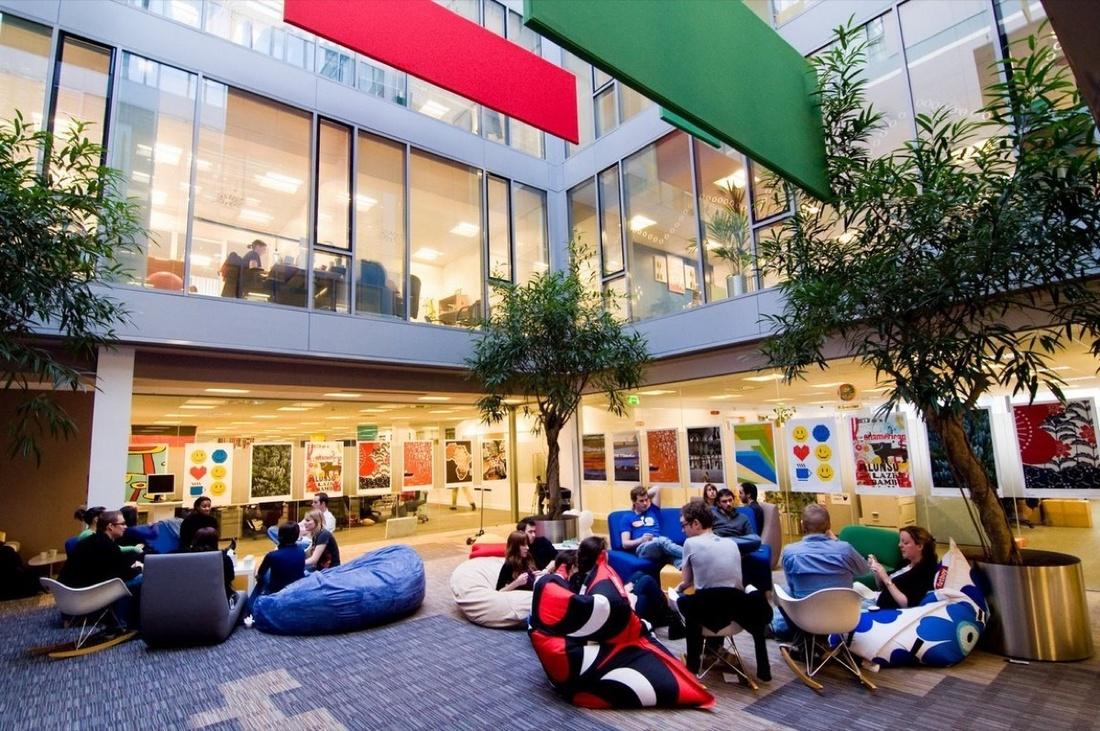 Google's Dublin office. Photo via Google.