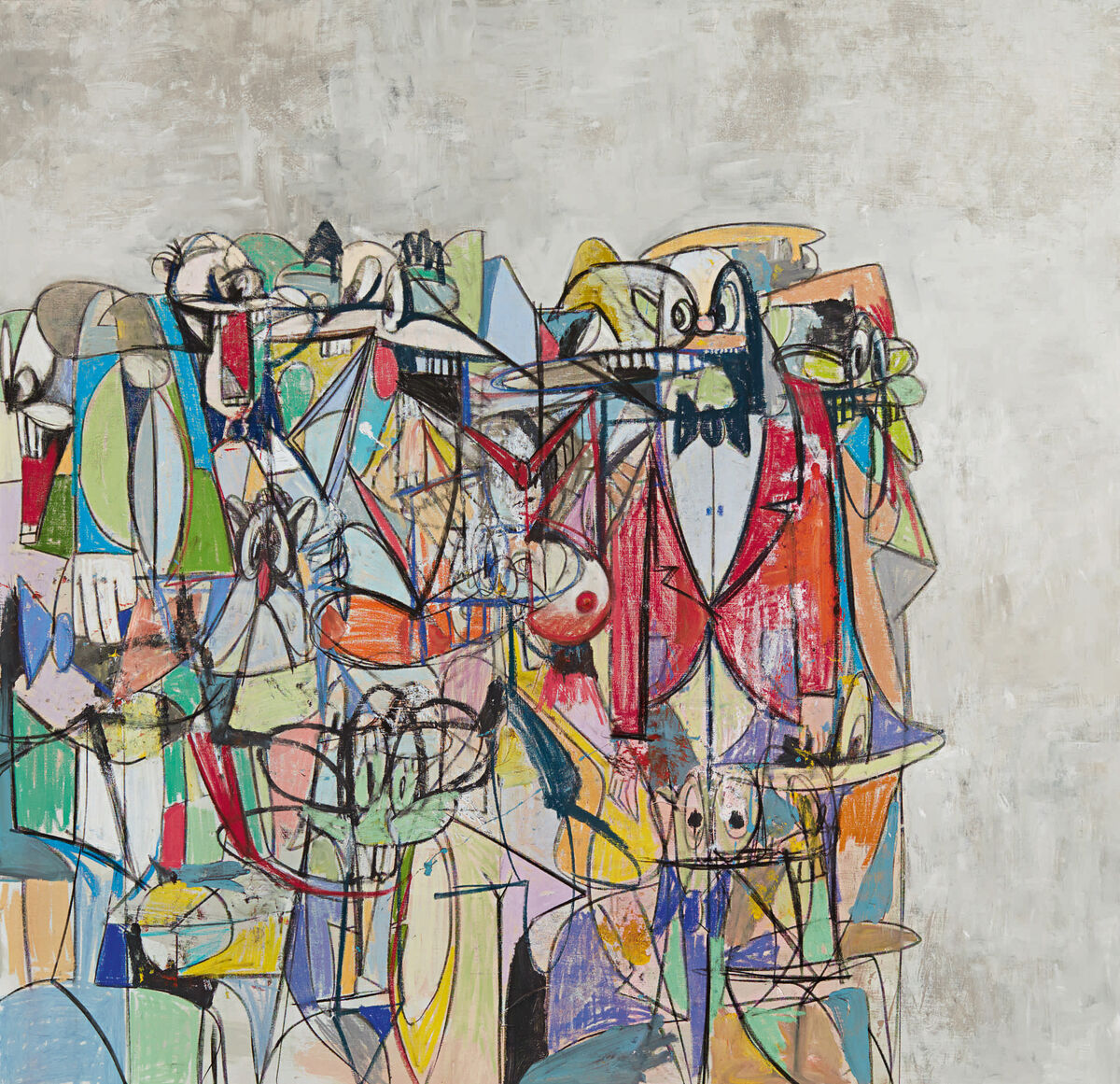 George Condo, Compression IV, 2011. Courtesy of Sotheby's.