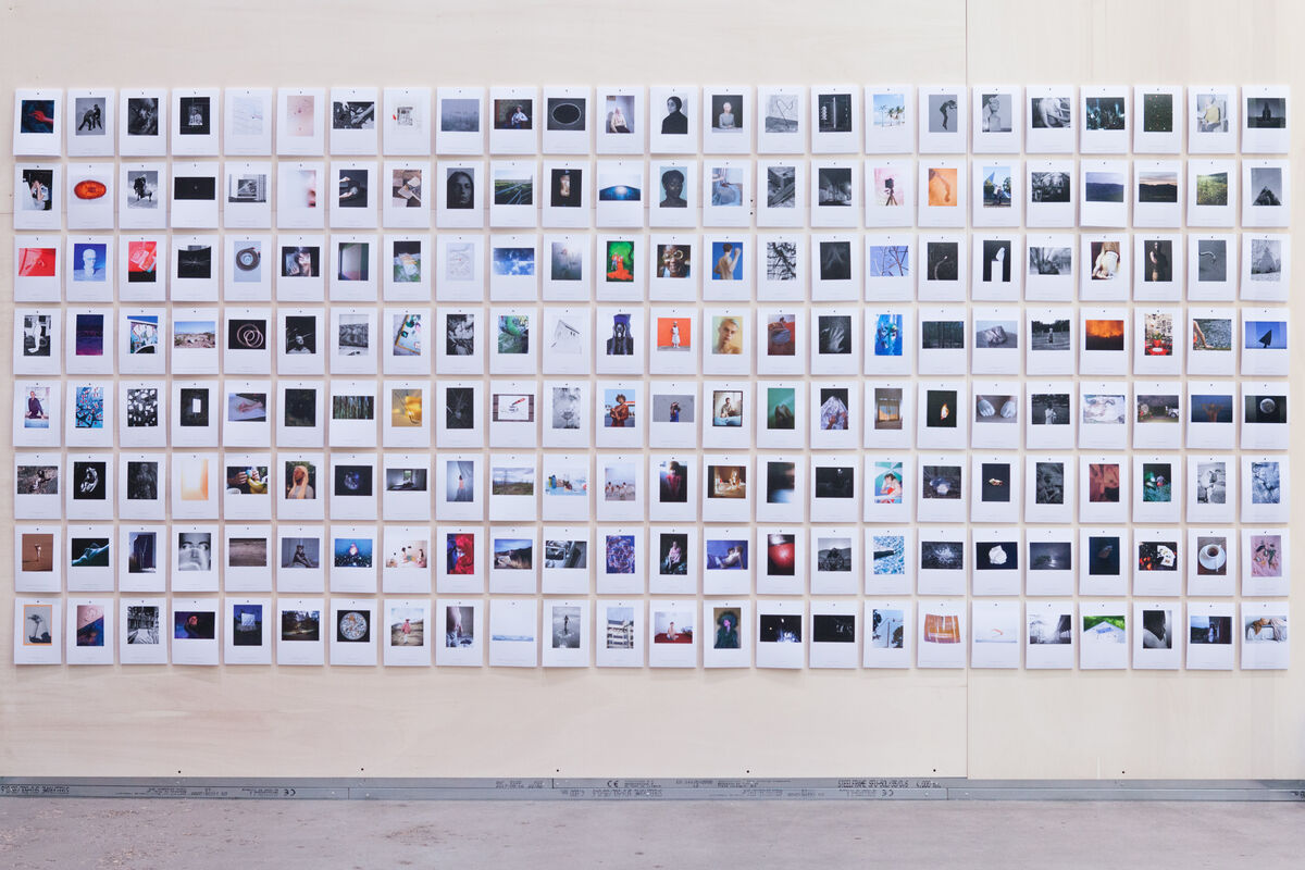 Installation of Der Greif's 192 Postcards at Unseen Amsterdam, 2017. Courtesy of Der Greif.