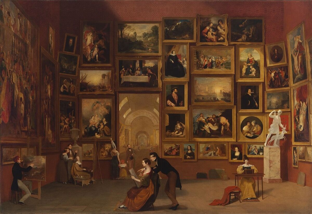 Samuel Morse, Gallery of the Louvre, 1831-33. Photo via Wikimedia Commons.