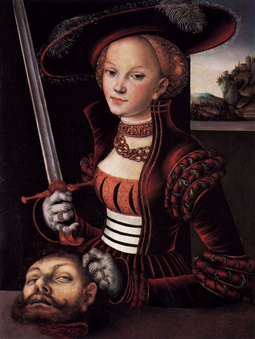 Lucas Cranach the Elder, Judith with the Head of Holofernes, ca. 1530. Image via Wikimedia Commons.