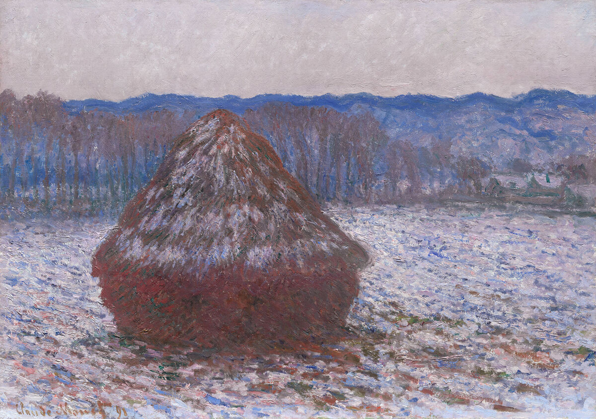 Claude Monet, Stack of Wheat, 1890/91. Courtesy of the Art Institute of Chicago.