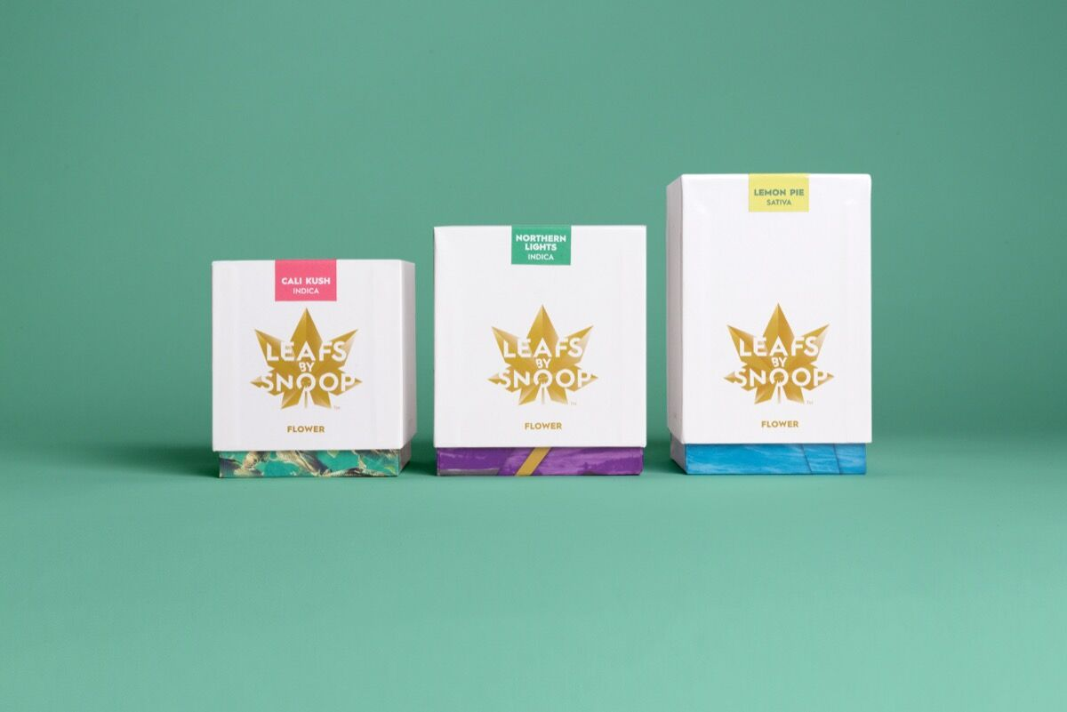 Branding for Leafs by Snoop by Pentagram. Courtesy of Pentagram.